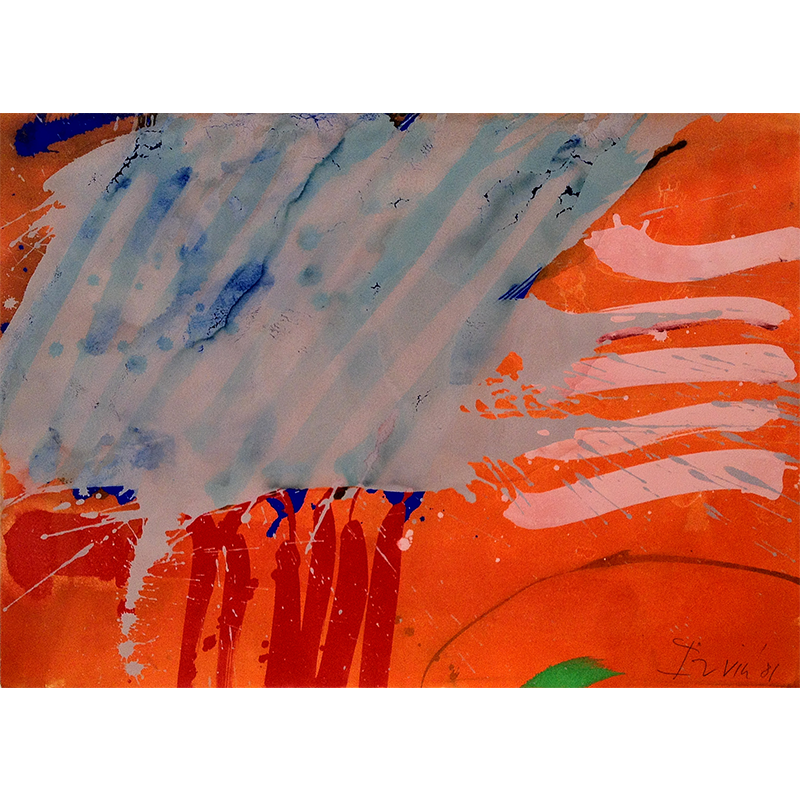 ALBERT IRVIN  RA (1922 - 2015) Untitled, 1981  on view at Maggie's Centre   Gouache on paper, 56 x 76cm  £6,000 Framed    ENQUIRE