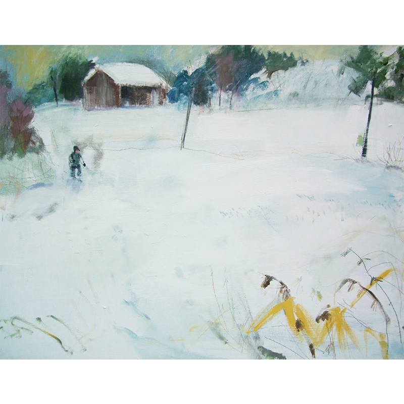 BRITA GRANSTRÖM  The Old Barn, 2010  on view at Maggie's Centre   Acrylic on canvas, 120 x 90cm  £2,800    ENQUIRE
