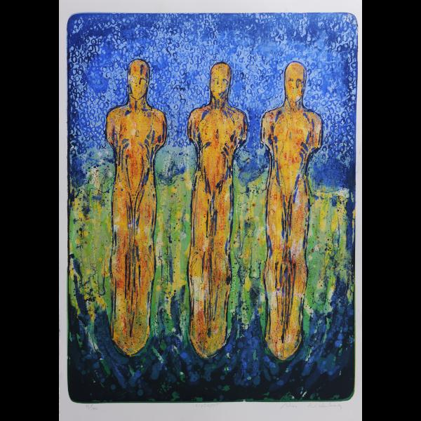 NICO WIDERBERG  Livslyst (Lust for Life)  on view at Jesmond Dene House   Lithograph, 79 x 59cm  £1,100 Framed    ENQUIRE