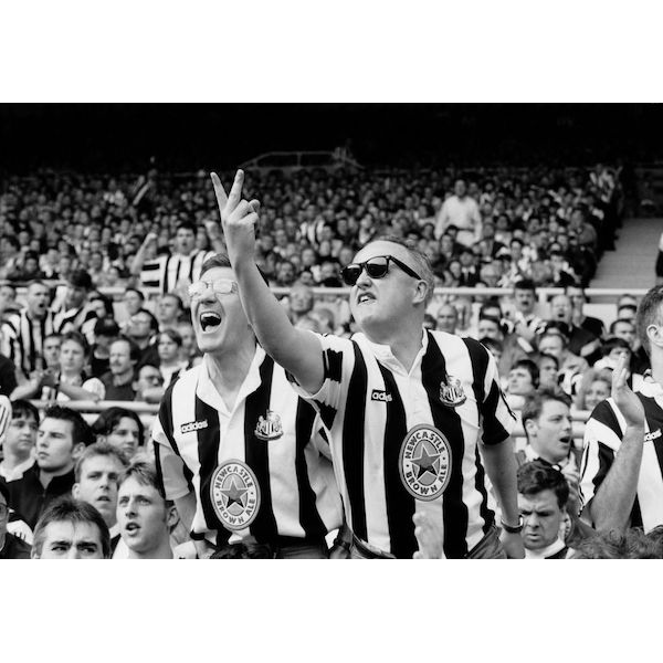 CHRIS STEELE-PERKINS  Newcastle Fans Abuse the Referee  on view at Jesmond Dene House   Black and white photograph  £485 Framed    ENQUIRE