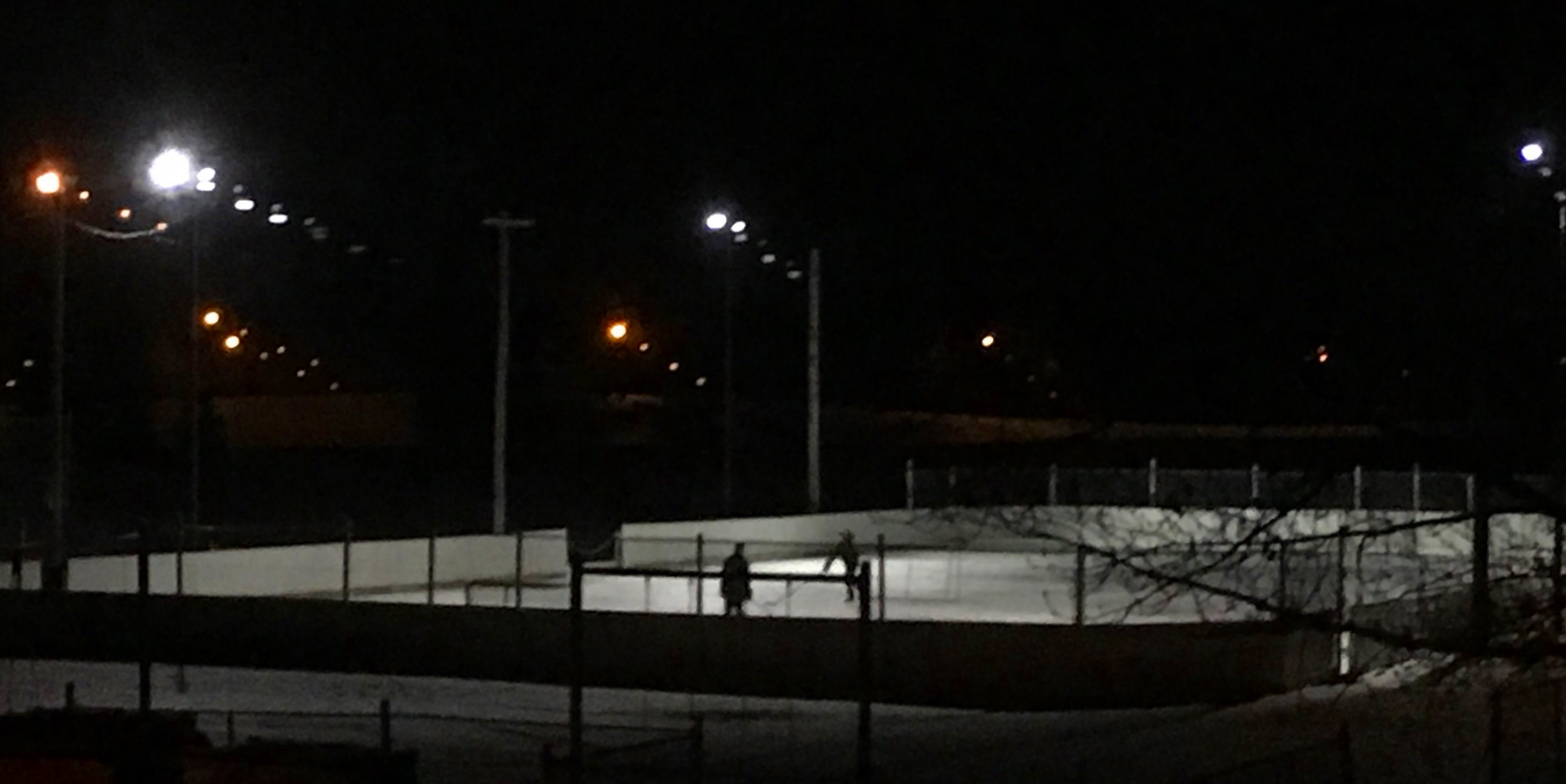 Lights stay on until 11pm - *unless Bill is flooding or the ice is not in condition to be used.
