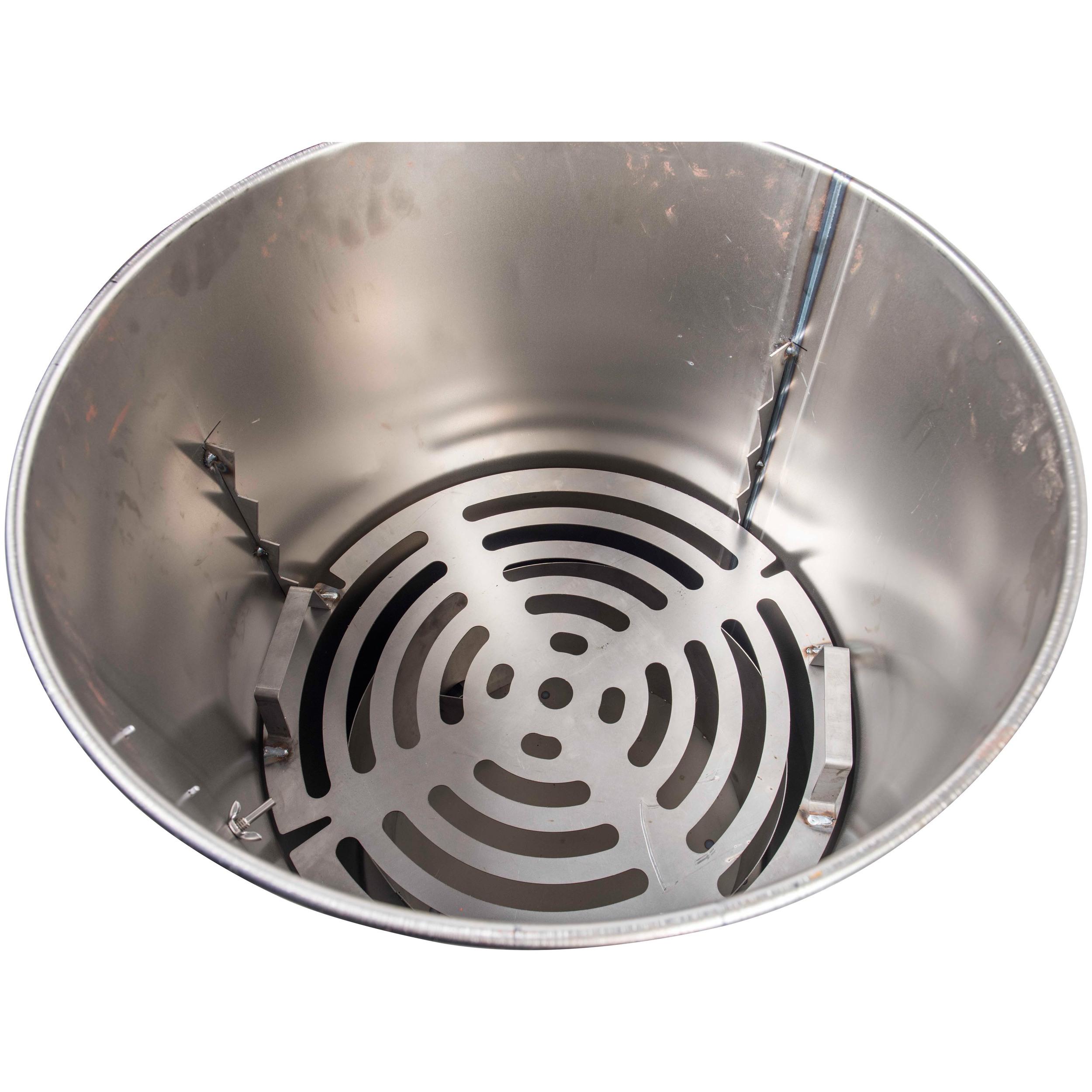 Heat Deflector Plate (shown inside drum)