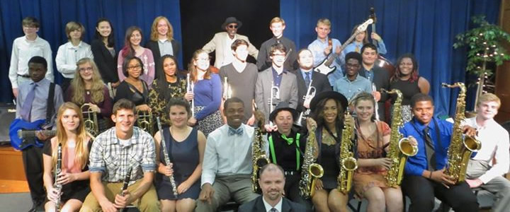 TS Monk visits the Clark Jazz Band 2016