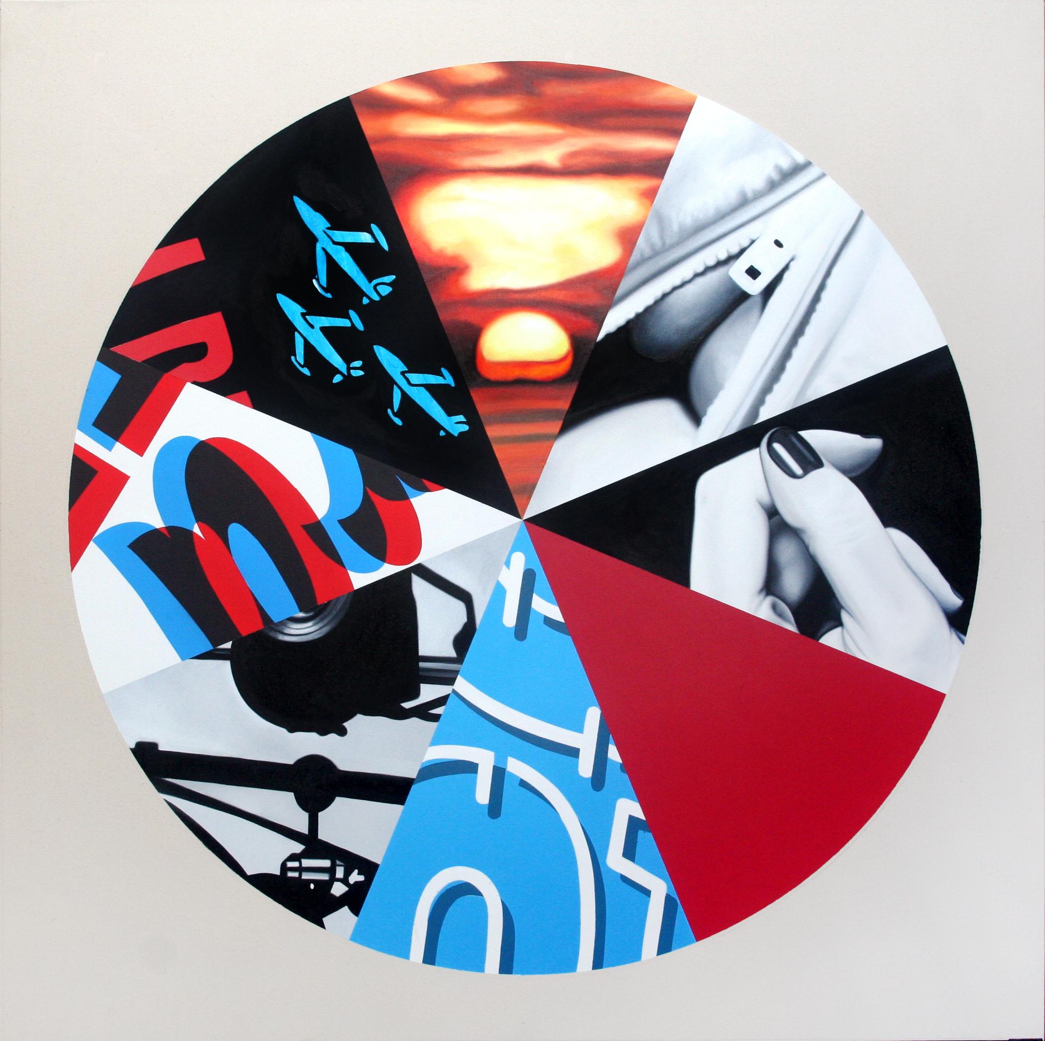 Sunset Circle  Oil & Acrylic on canvas  120 x 120 cm