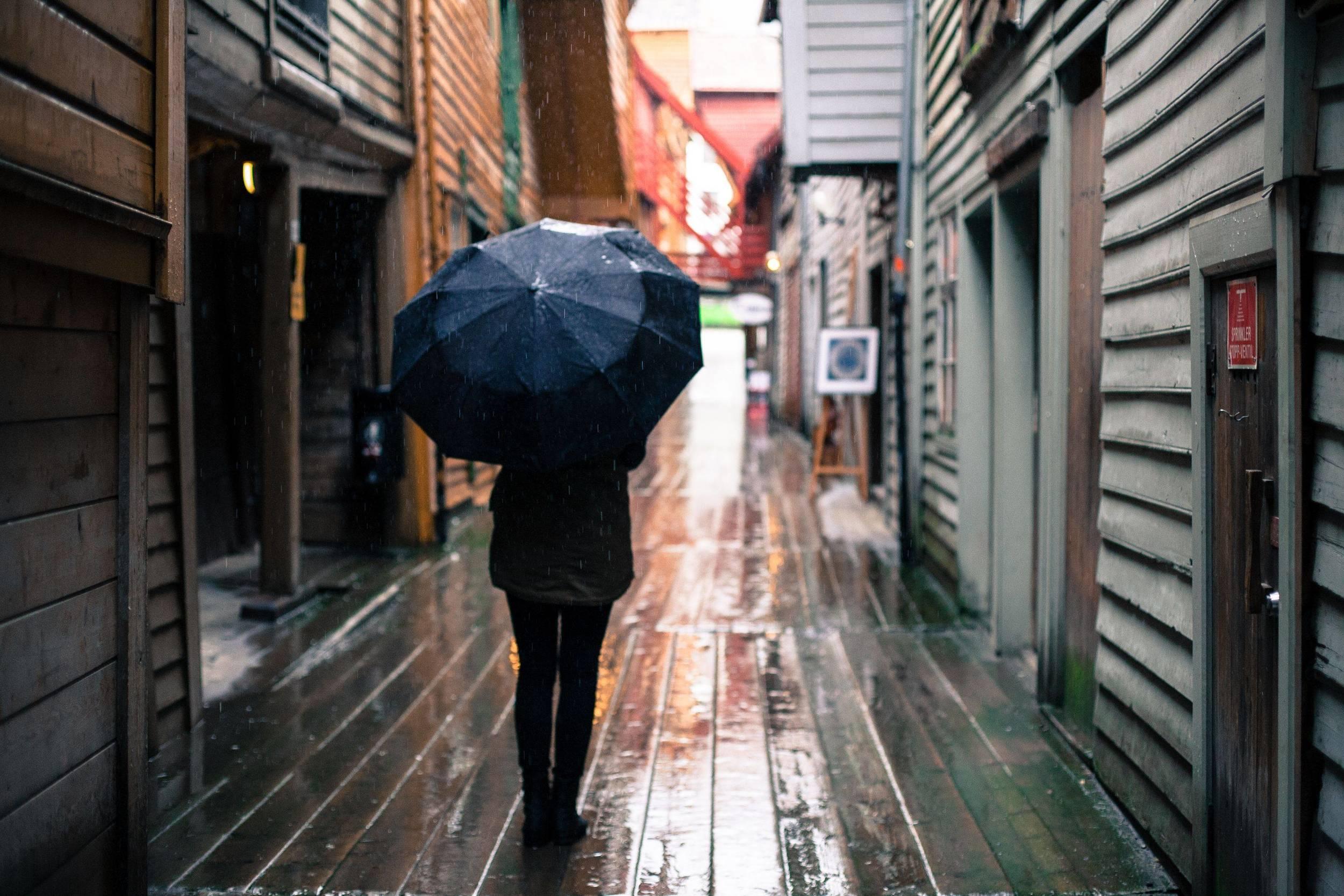 Farvel til regnet …