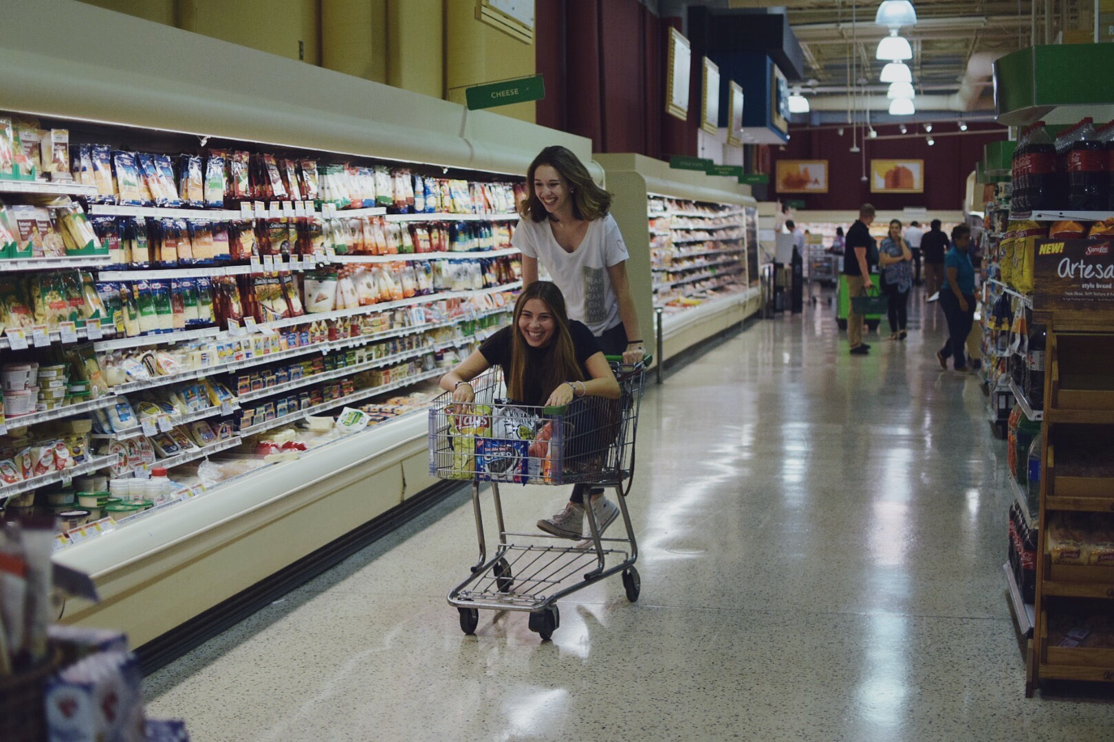 Alexa and I demonstrating how Publix brings out our inner child.