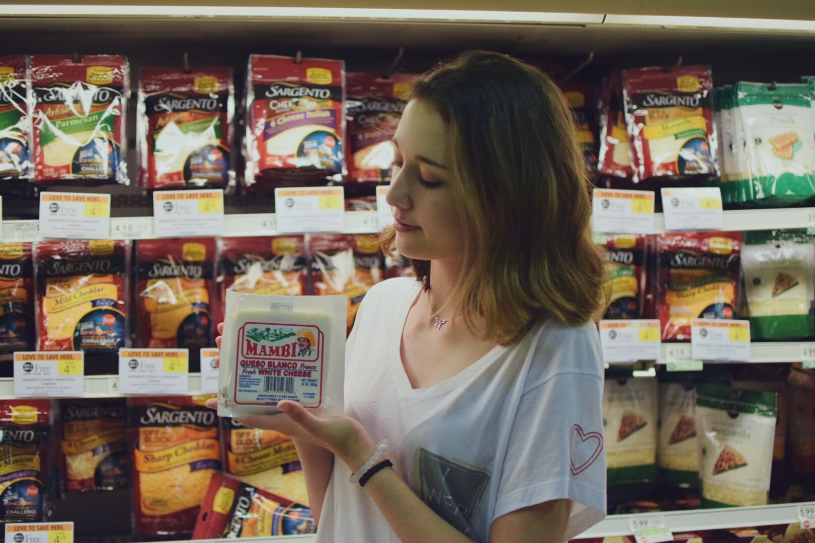 A photo capturing my love for cheese and Publix.