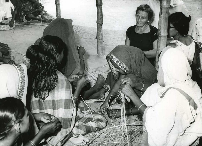 Margaret McNamara on a trip to Bangladesh in 1976.