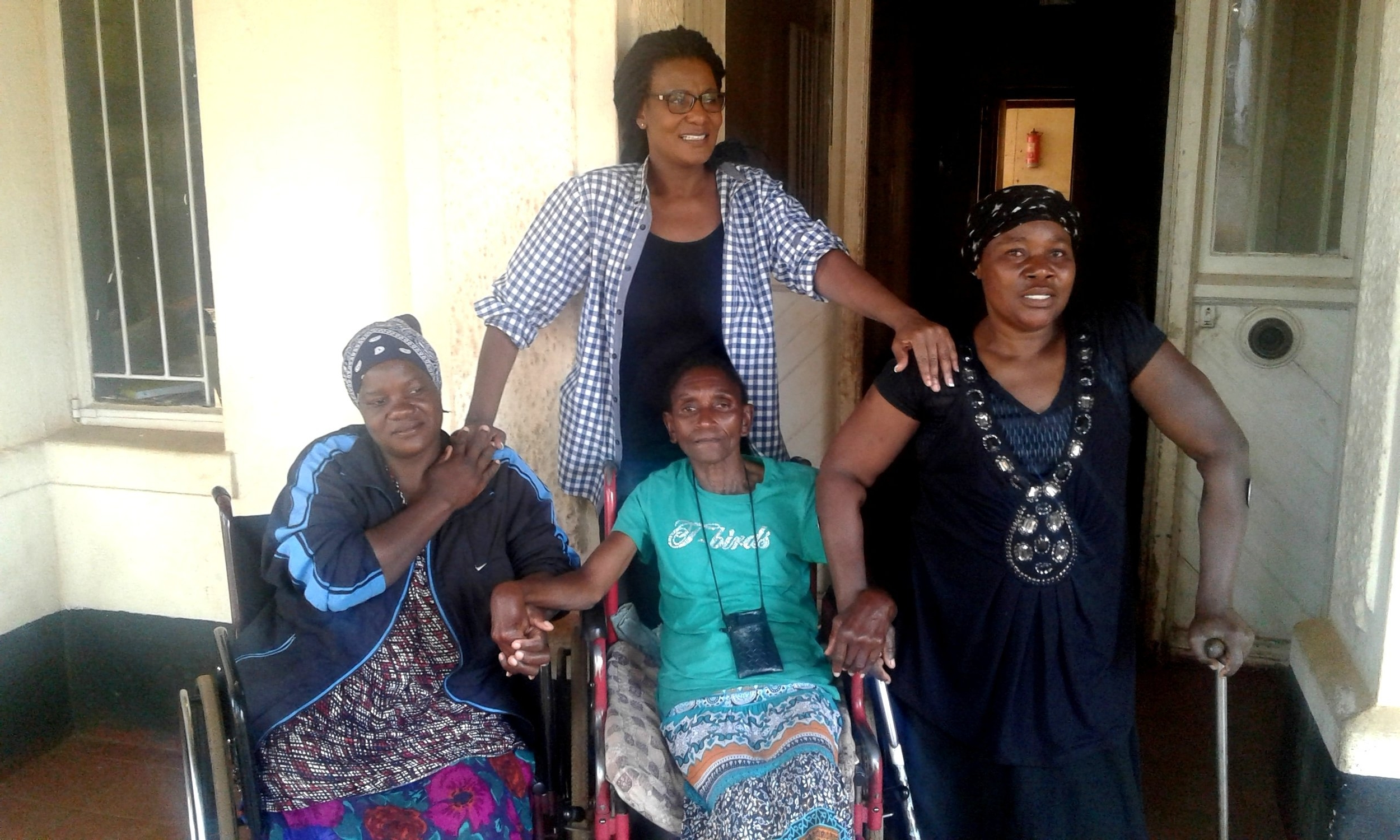 Dr Christine Peta with disabled women soon after a focus group discussion on sexual and reproductive health