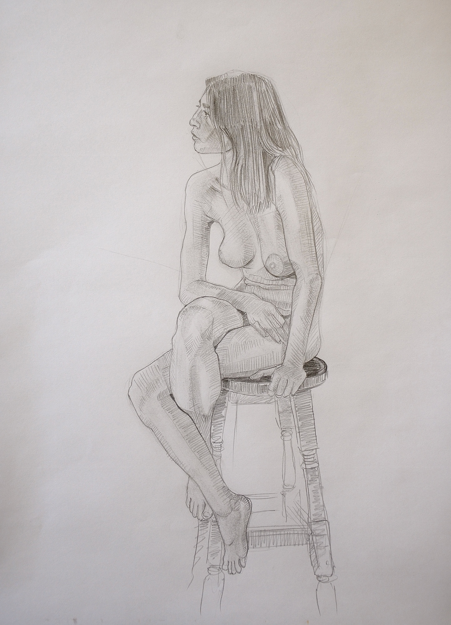 Teacher Makes Art Students Use Same Paper For Figure Drawing