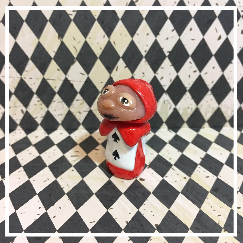 Card Soldier 'Shroom Sculpture