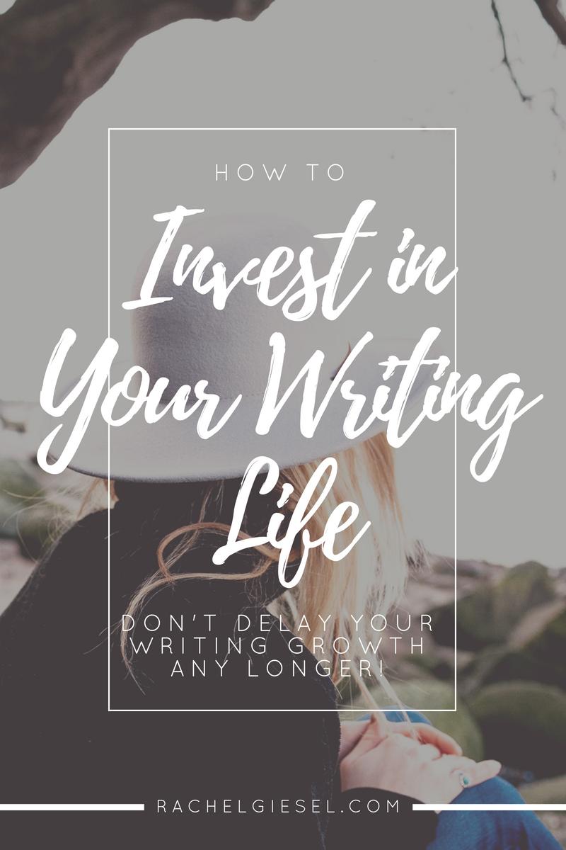 """If you want to grow as a writer, you have to put in some work.  You have to learn about craft, you have to lay the proper mental foundation, you have to get the writing done consistently, again and again. There are TONS of avenues to help you grow as a writer, and many of them are free.But when you're ready to take your writing to the next level, you're going to have to invest. And this is where a LOT of writers get unnecessarily held back. One of the biggest myths I see from writers  all the time  goes something like this: """"I need to  make  money from writing before I  invest  money into writing,"""" or """"The writing has to  prove its worth  before I spend any money on it."""" And this is SUCH a big myth.  So let's debunk the myth and look at some quality avenues of where to invest your writing. You'll stop stunting your growth as a writer, and be on your way to becoming the writer you've always wanted to be in no time. Your writing life will thank you for it. Click through to read the whole post!"""