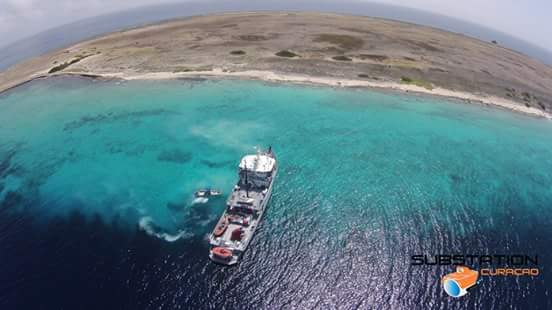 Mooring for the RV Chapman - northwest corner of Klein Curaçao