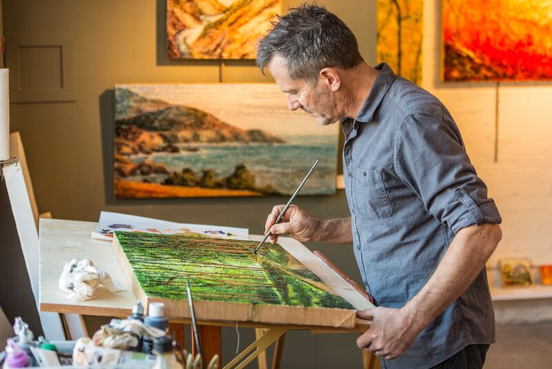 Oil Paintings by Stephen St. Claire | Process | River Arts District | Asheville, NC