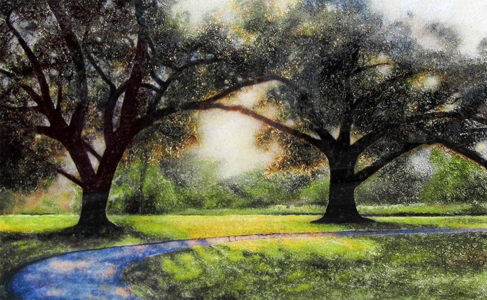 Entwined Oaks