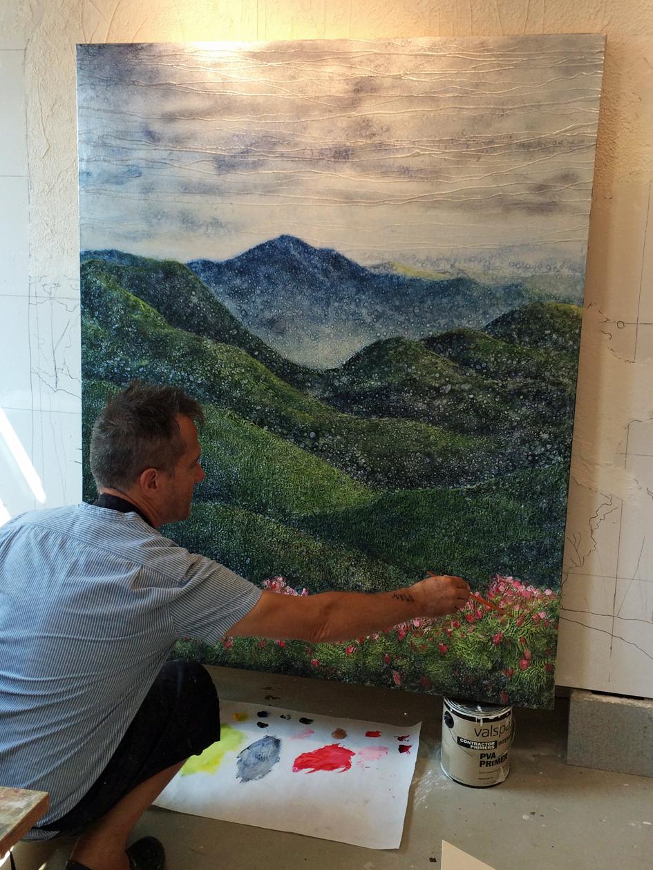 """""""Smoky Mountain Vista"""" (4' x 5')"""