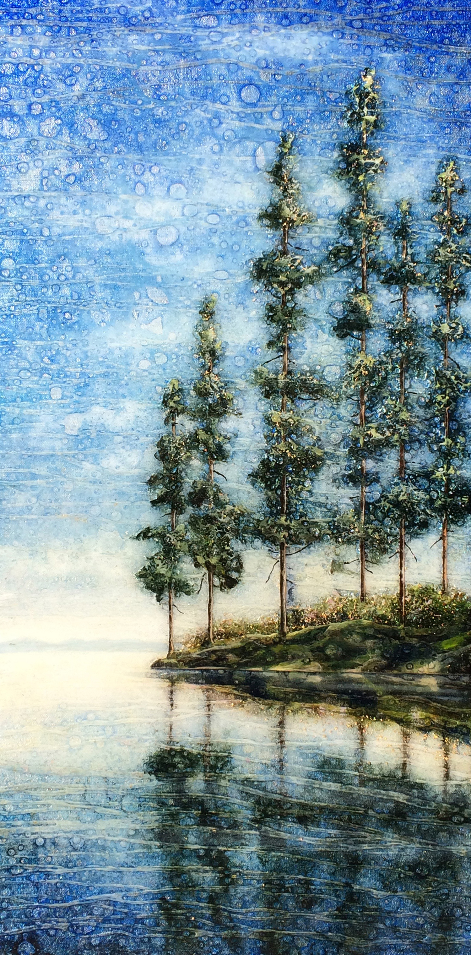 """""""Morning on the Sound"""" (24"""" x 12"""")"""