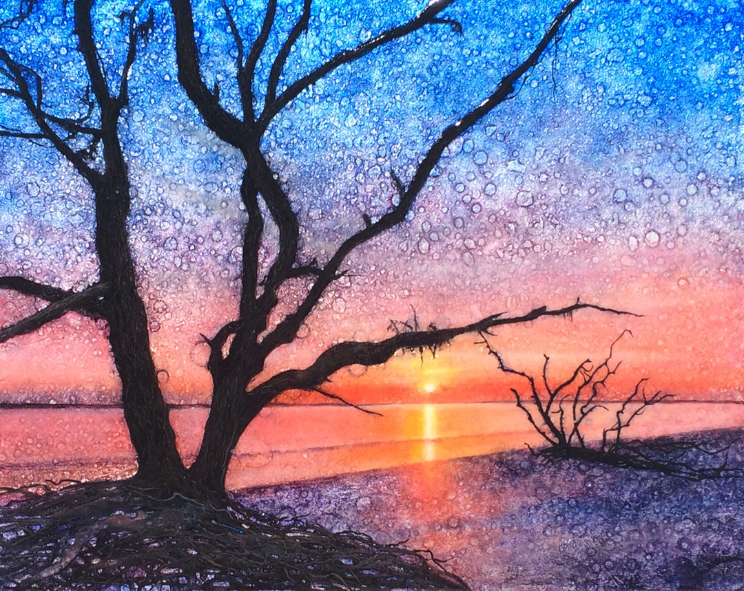 sunrise oil painting