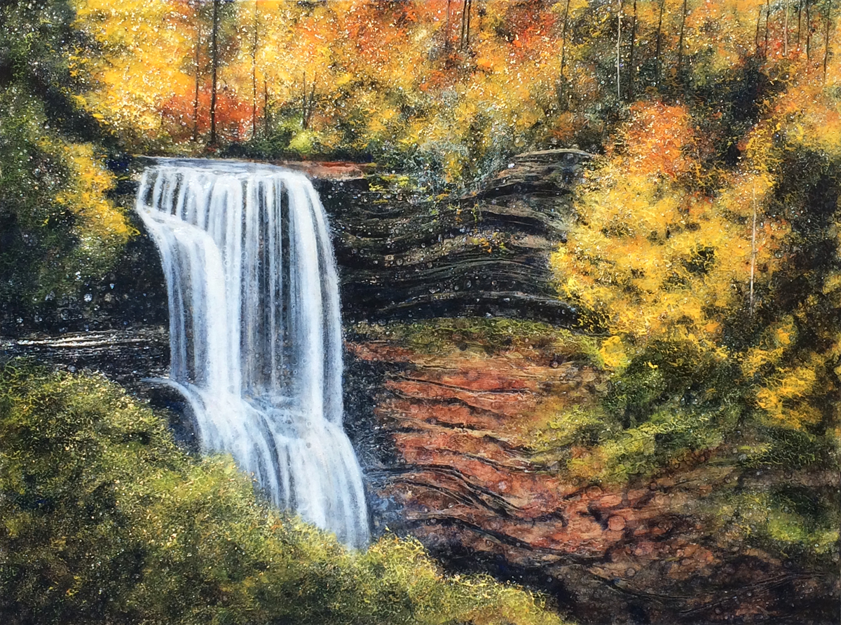 """Dry Falls"" (24"" x 32"")"