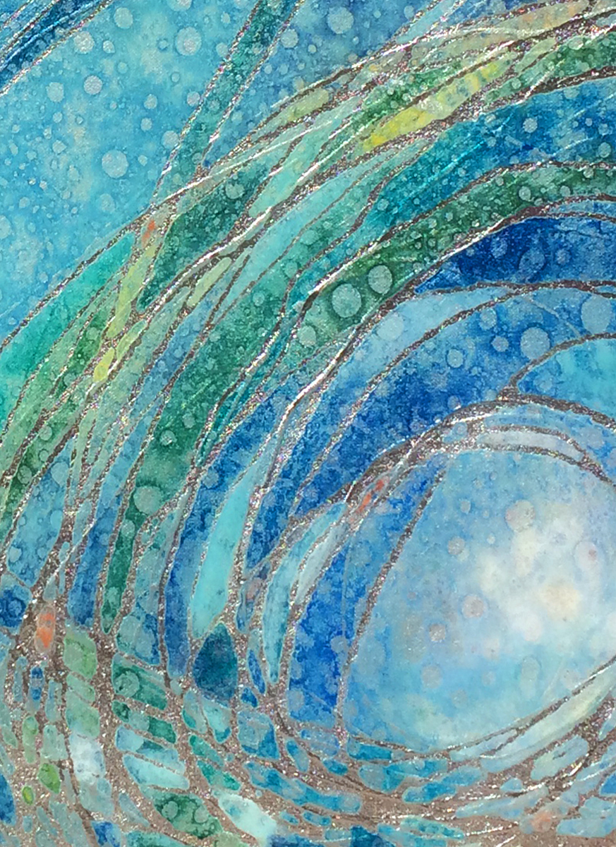 """Azure Spirals"" close up"