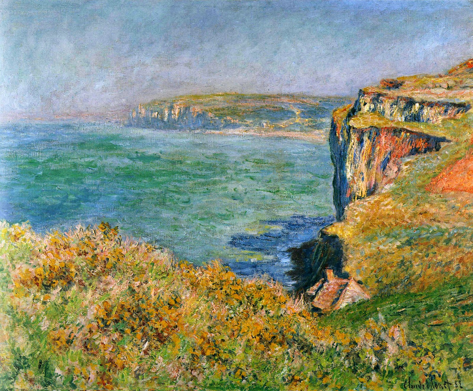 """Cliff at Varengeville"", 1882"