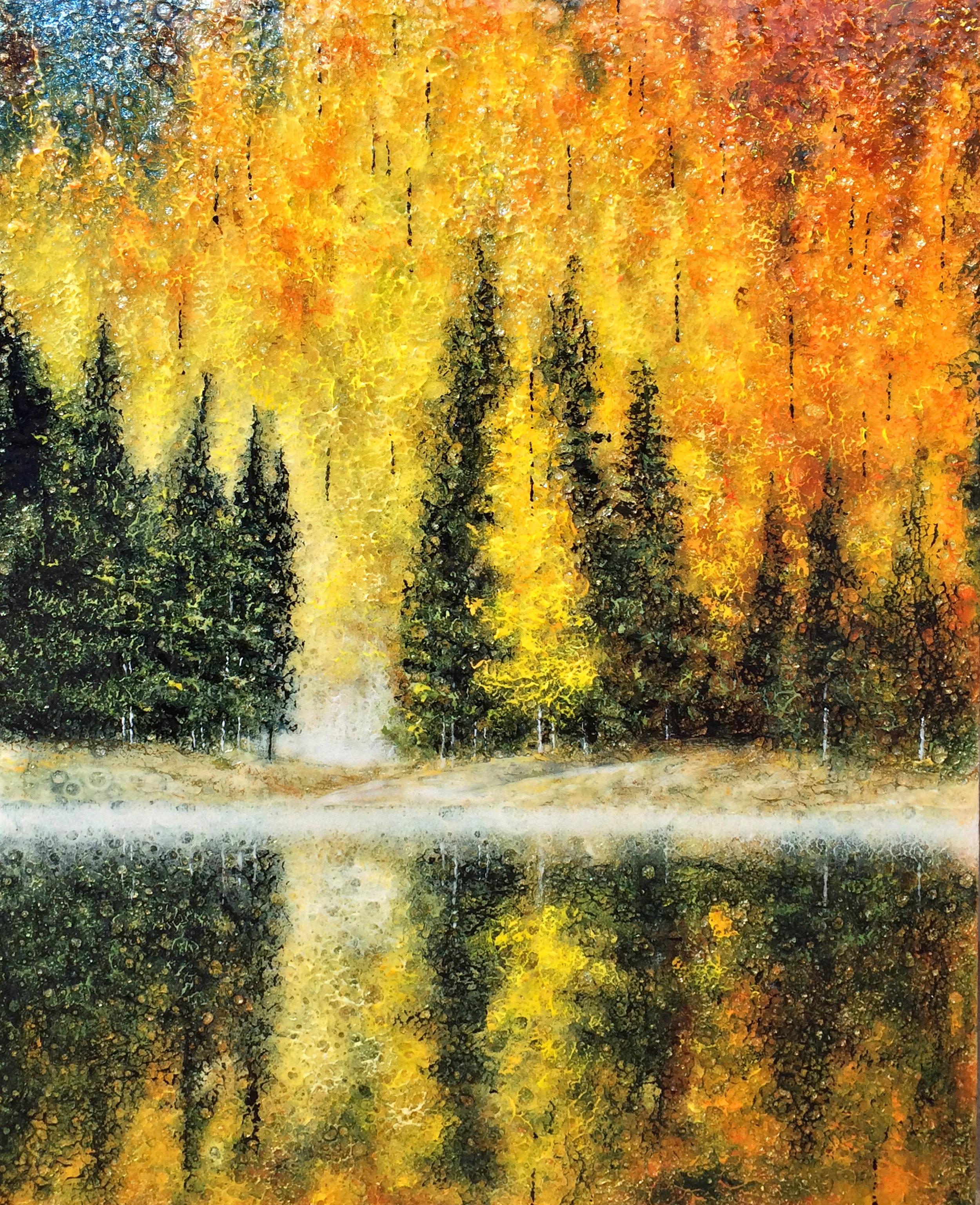 Aspens on the Lake
