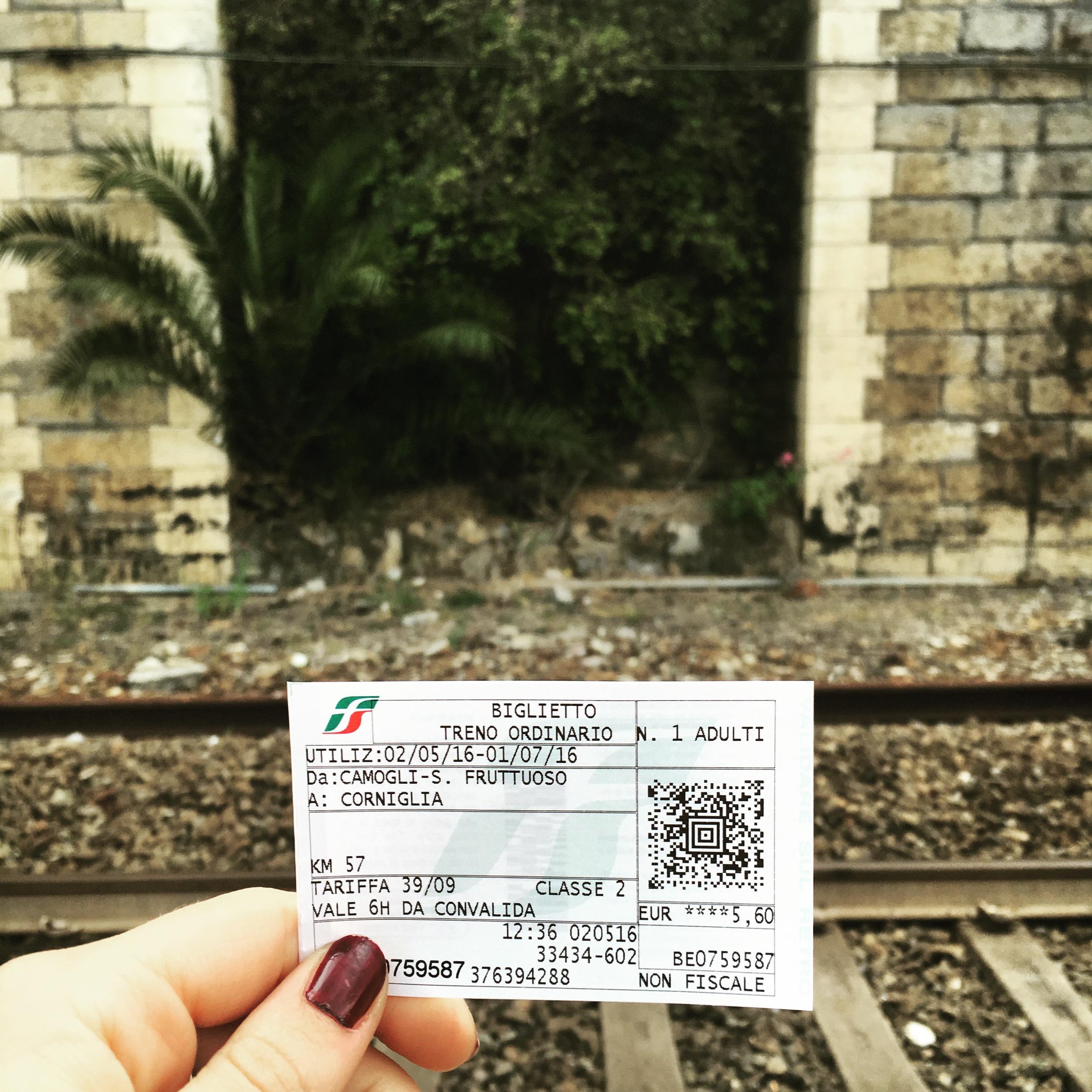 Standard single journey train ticket