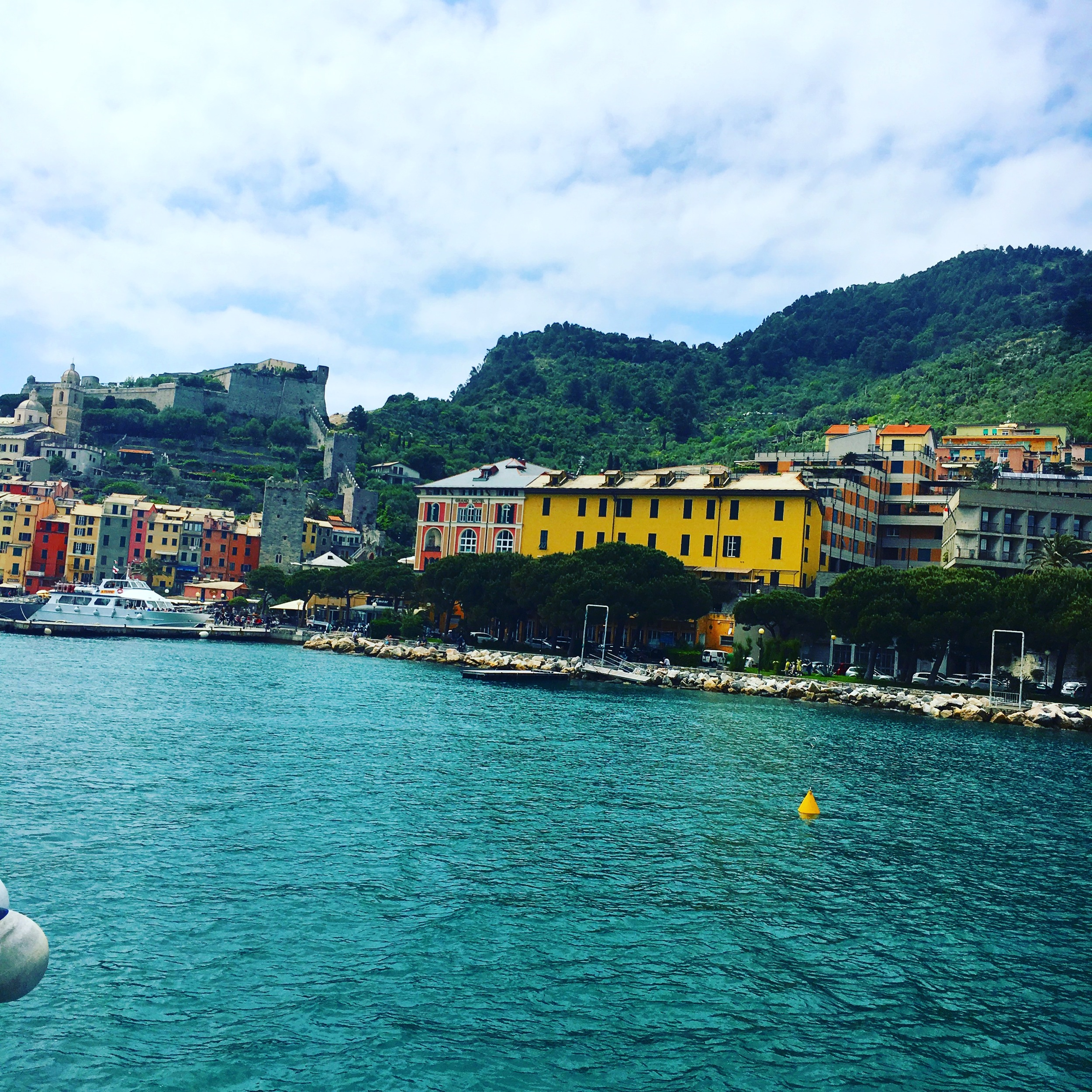 Approaching Portovenere by boat