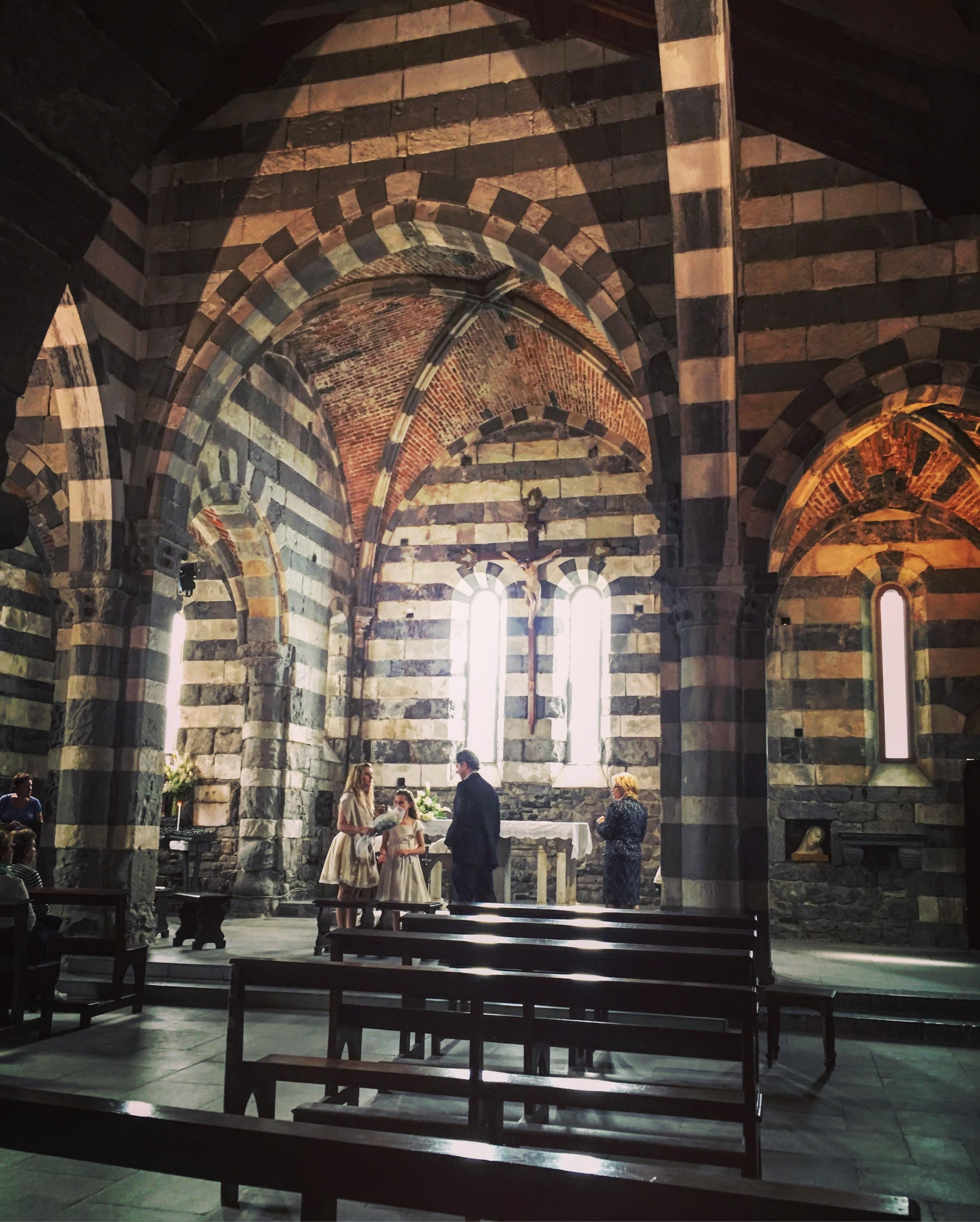 The interior of San Pietro Church