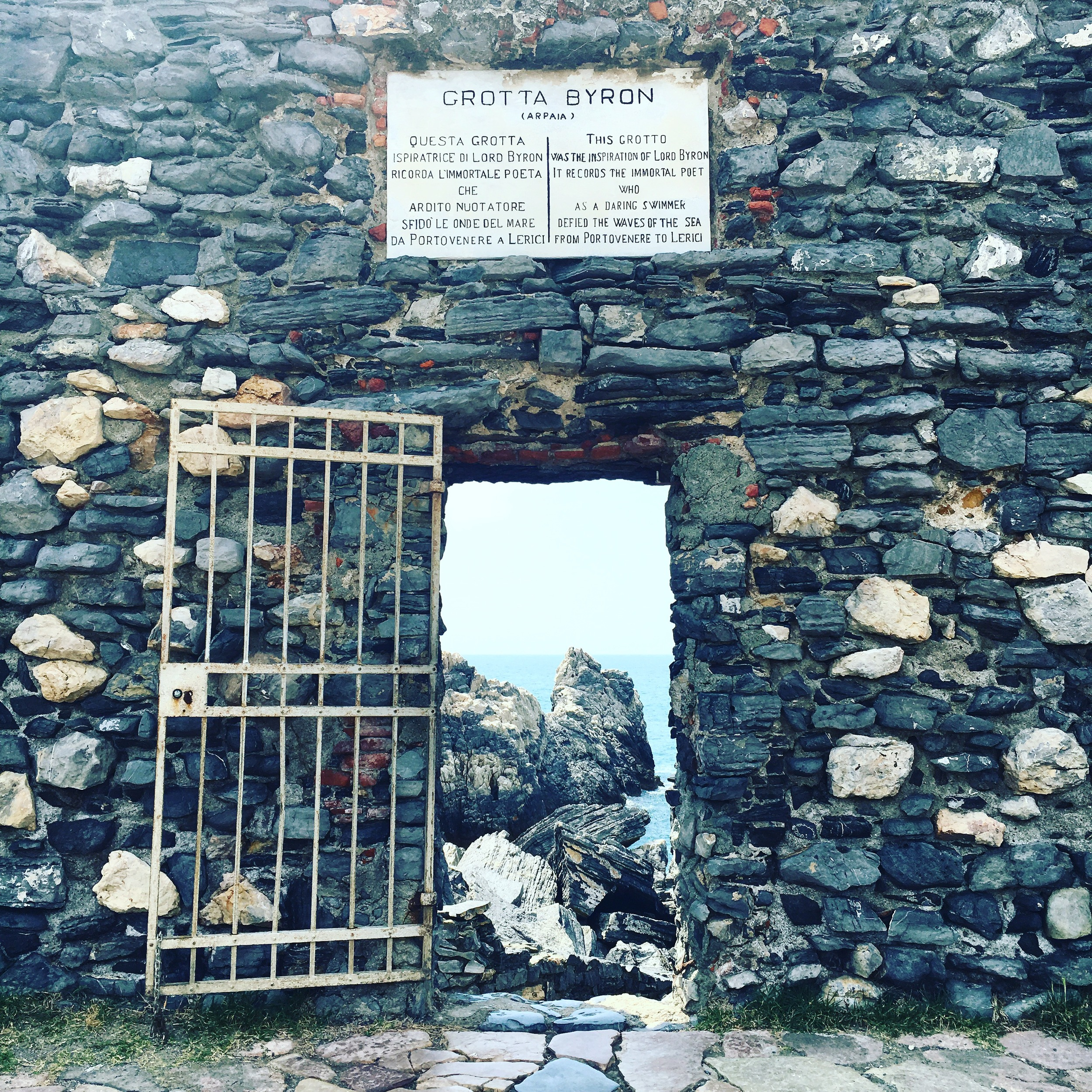 Byron's Grotto - supposedly one of his favourite spots in Liguria