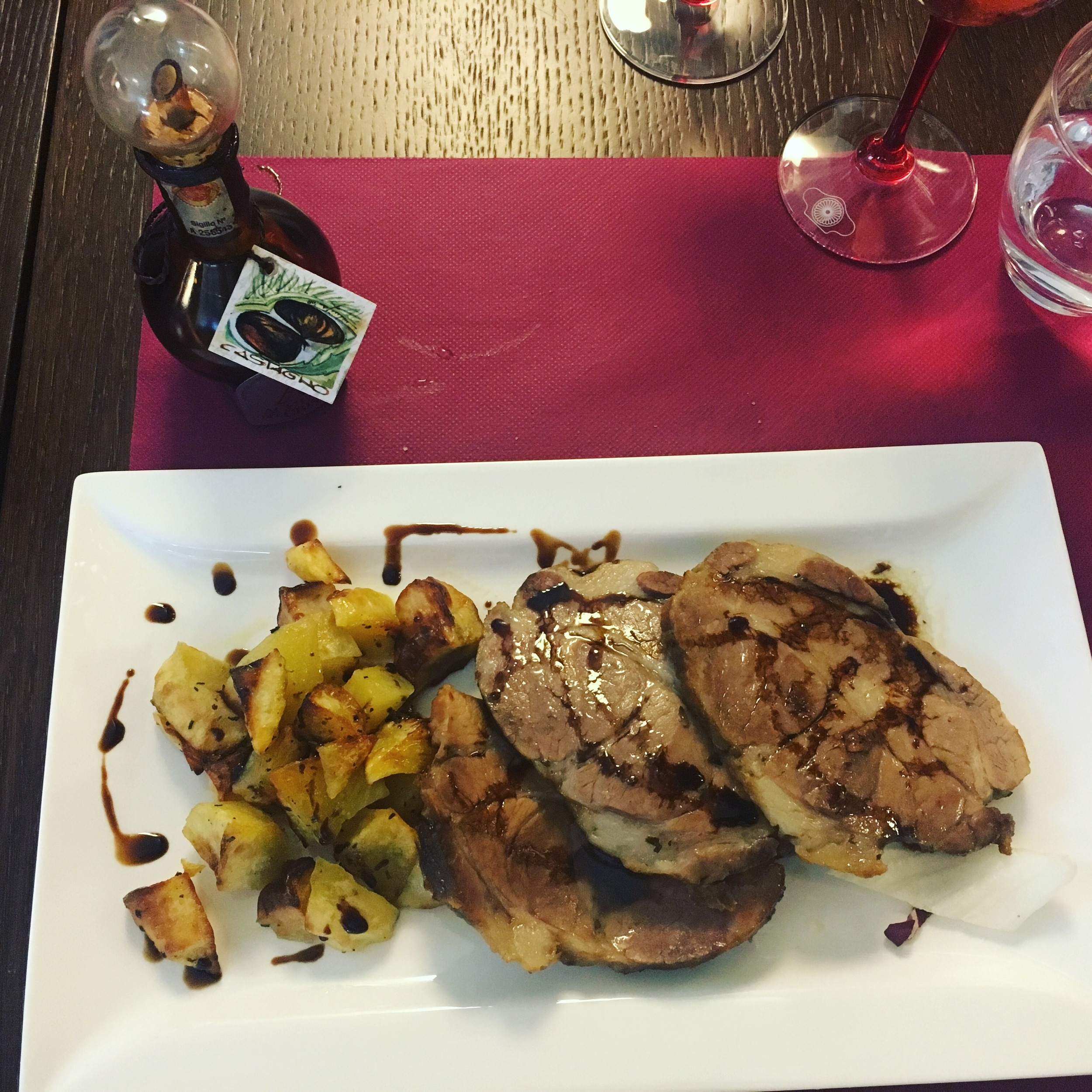 I drizzled mine onto roasted pork and potatoes. Heaven.