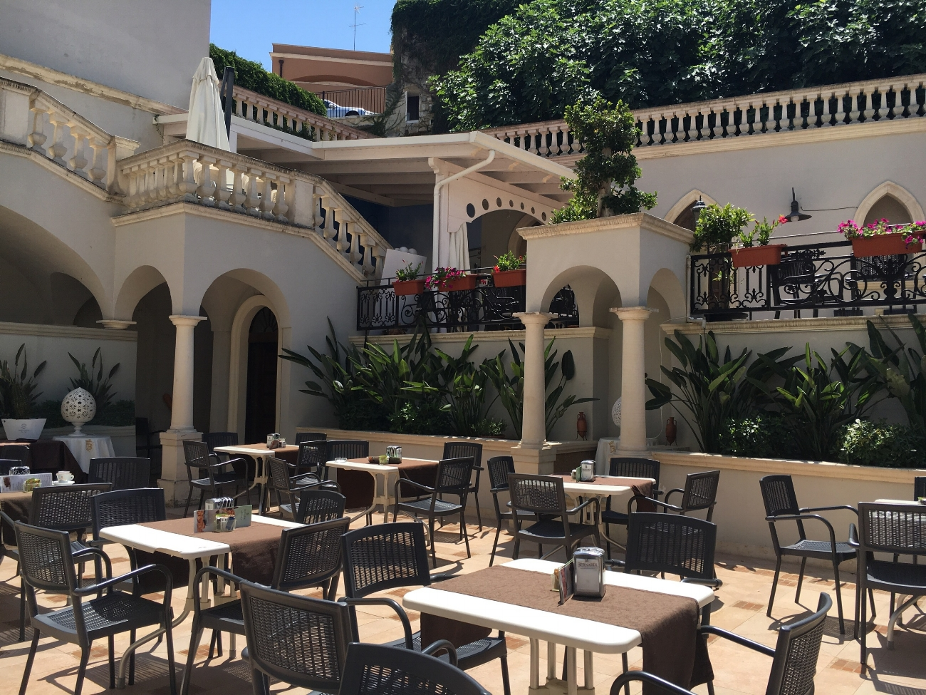 ..and stay here for a few hours to top up your tan in this crazy courtyard.