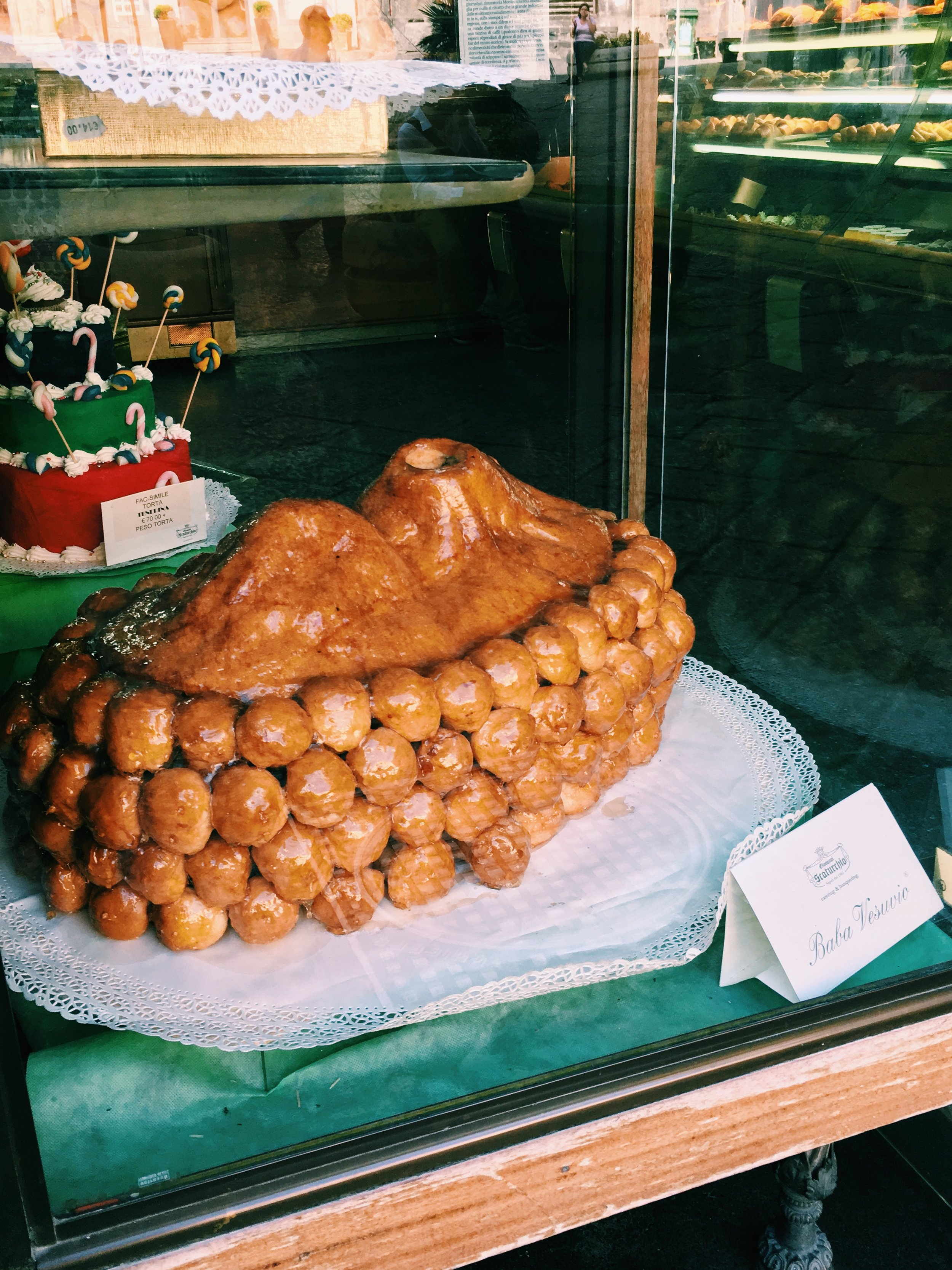 Baba al'Rum. In a sort of epic cake form. Will likely lead to an untimely death at unfashionably young age given levels of sugar and alcohol this cake is bathed in.