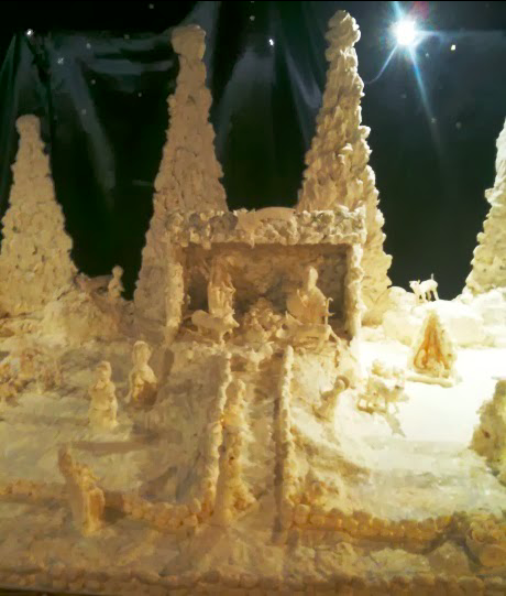 Presepe made entirely of butter