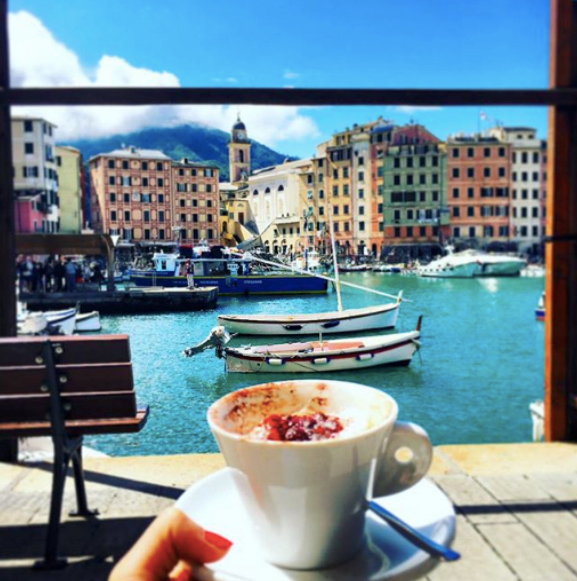 Cappuccino in Camogli