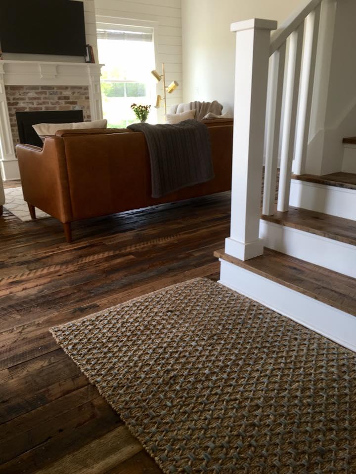 Hit & Miss Oak flooring, custom stair treads.jpg