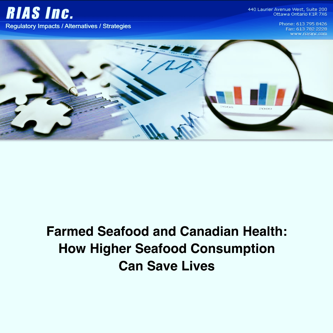 Farmed Seafood and Canadian Health:  How Higher Seafood Consumption Can Save Lives