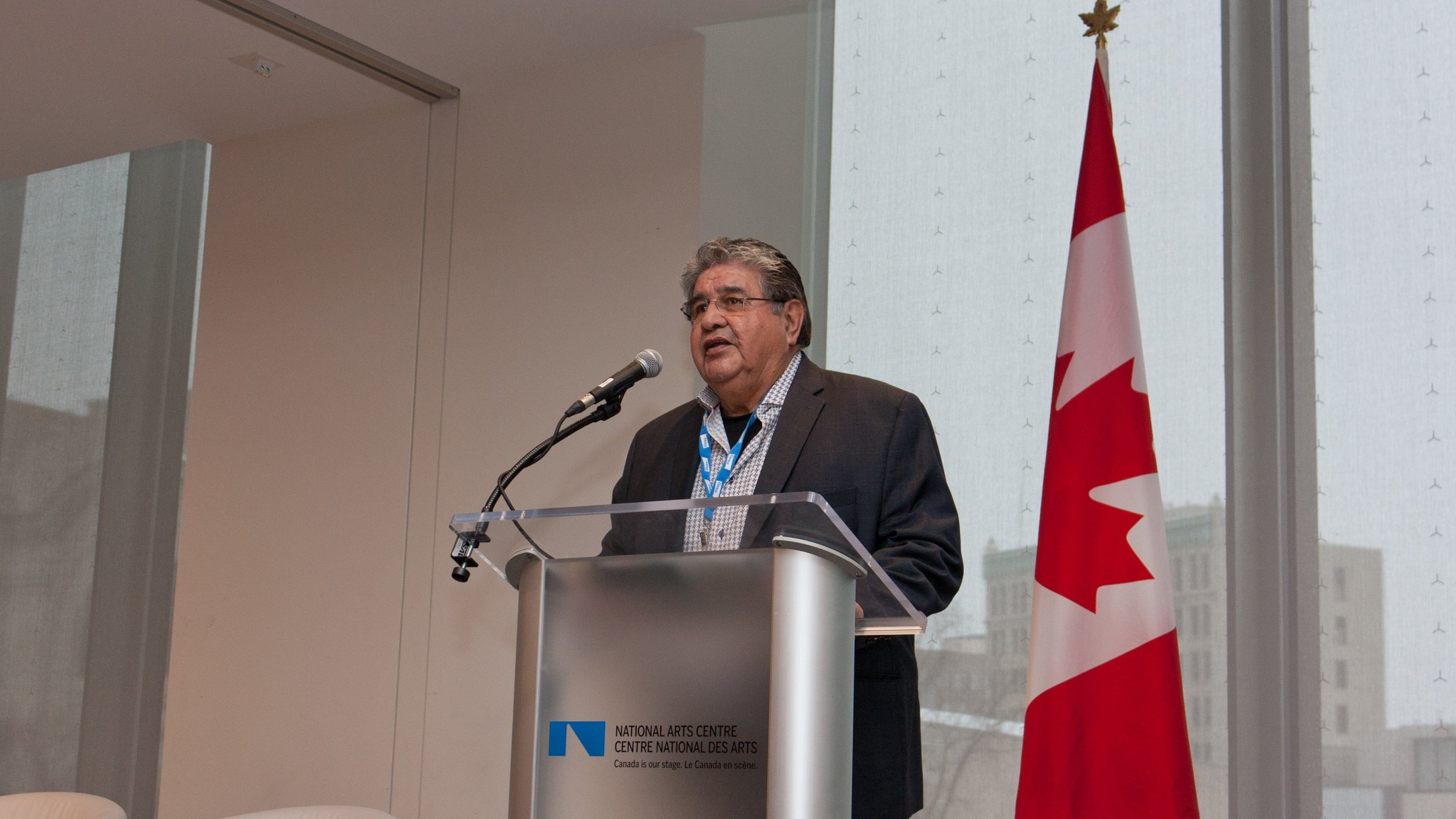 Richard Harry, Executive Director, Aboriginal Aquaculture Association provided opening remarks at the Indigenous Farmed Seafood Luncheon Celebration