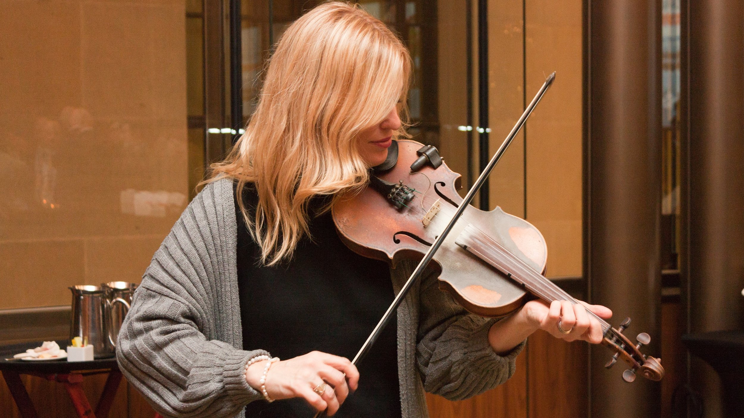 Live entertainment during the Reception as be provided by fiddler and vocalist Anna Ludlow