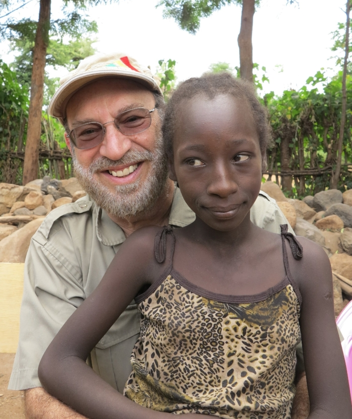 Dr. Peter Nalos with a girl from the Malle Tribe near Key Afar from one of our new schools.