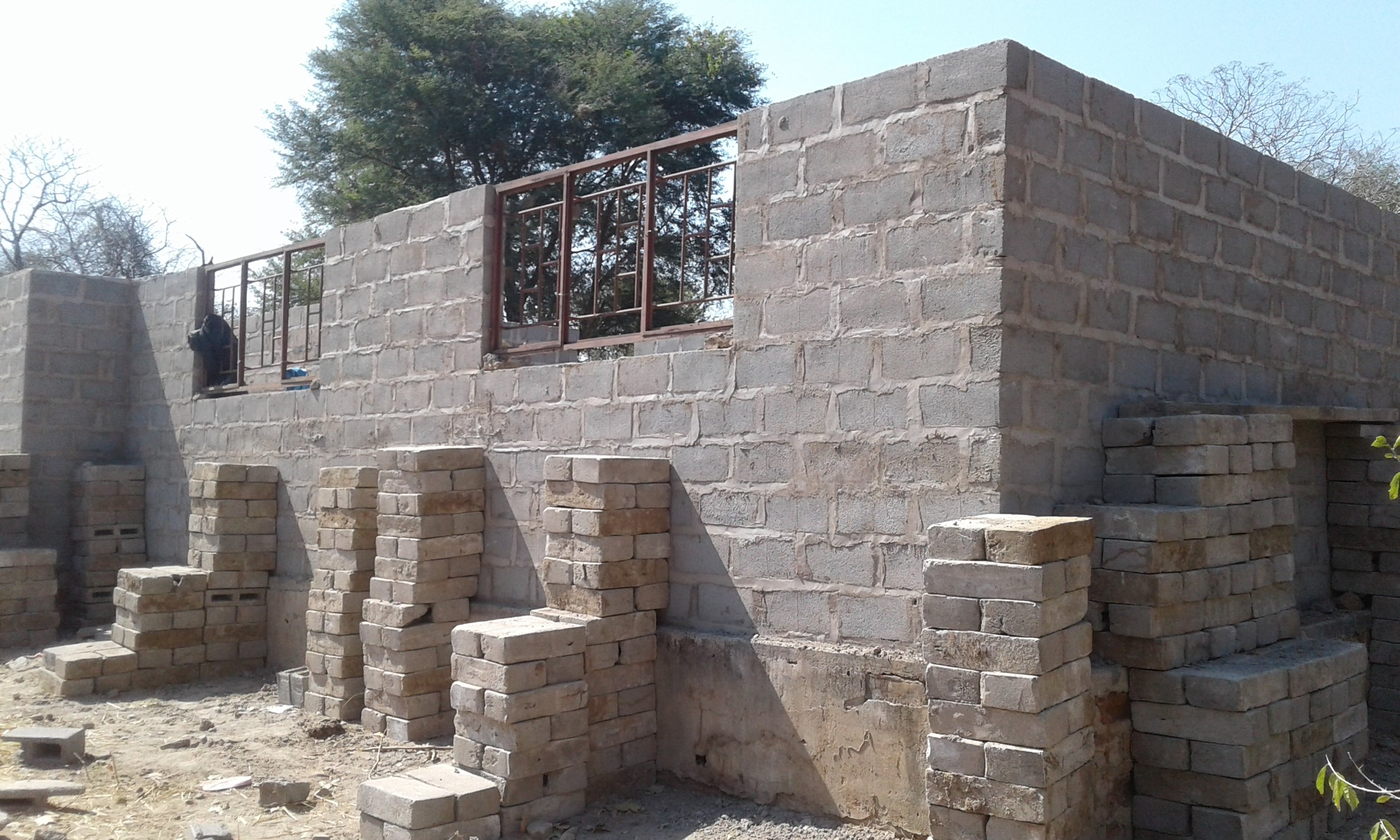 First school being built for the Tsoli tribe children.