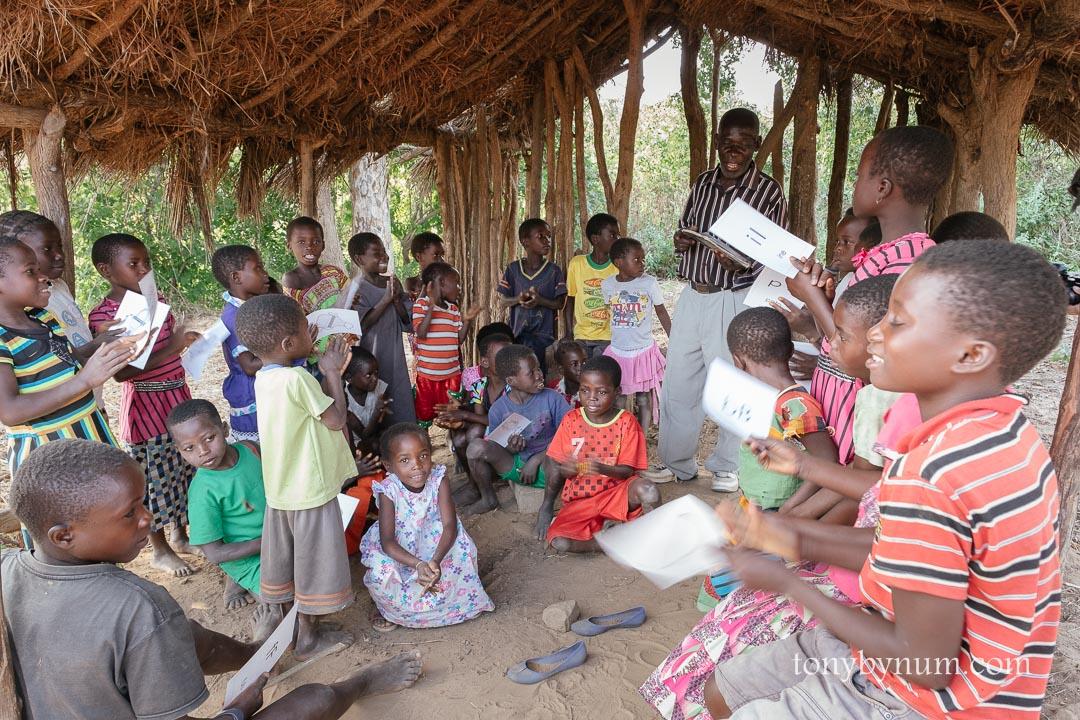 Tsoli teacher awaiting a new school for 250 children.