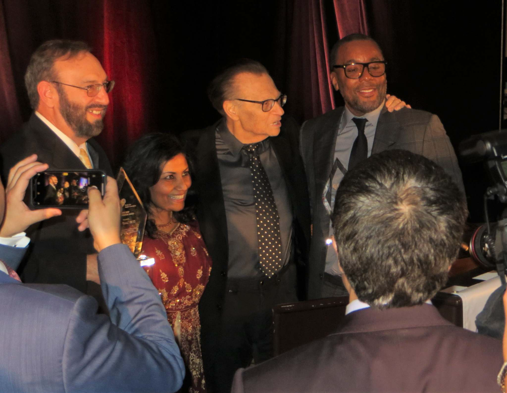 Peter with Larry King, Lee Michaels and Sheila Kar, MD