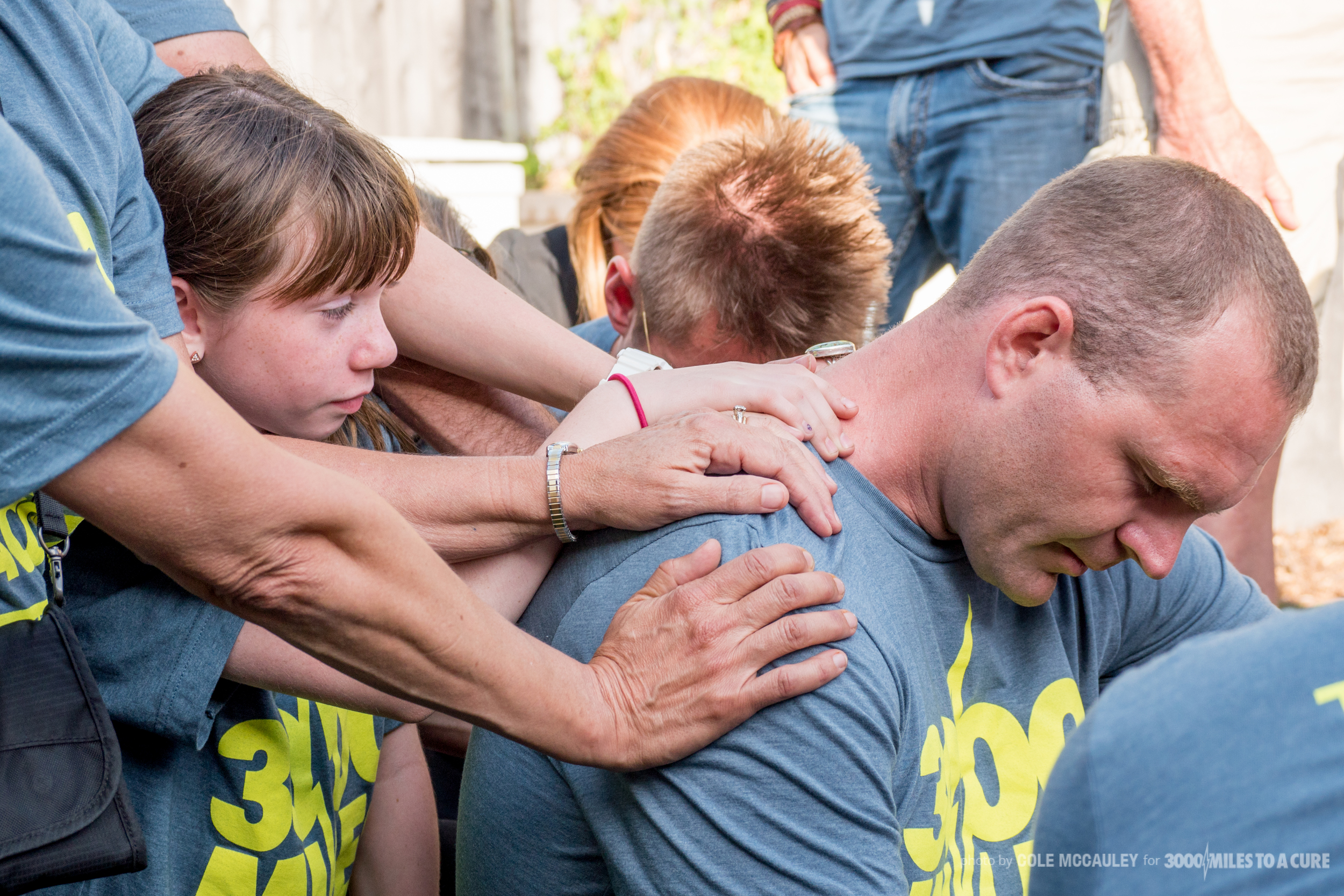 Rob started off his trip with a lot of praying. During the course of the trip, people were constantly praying over him and alongside him.