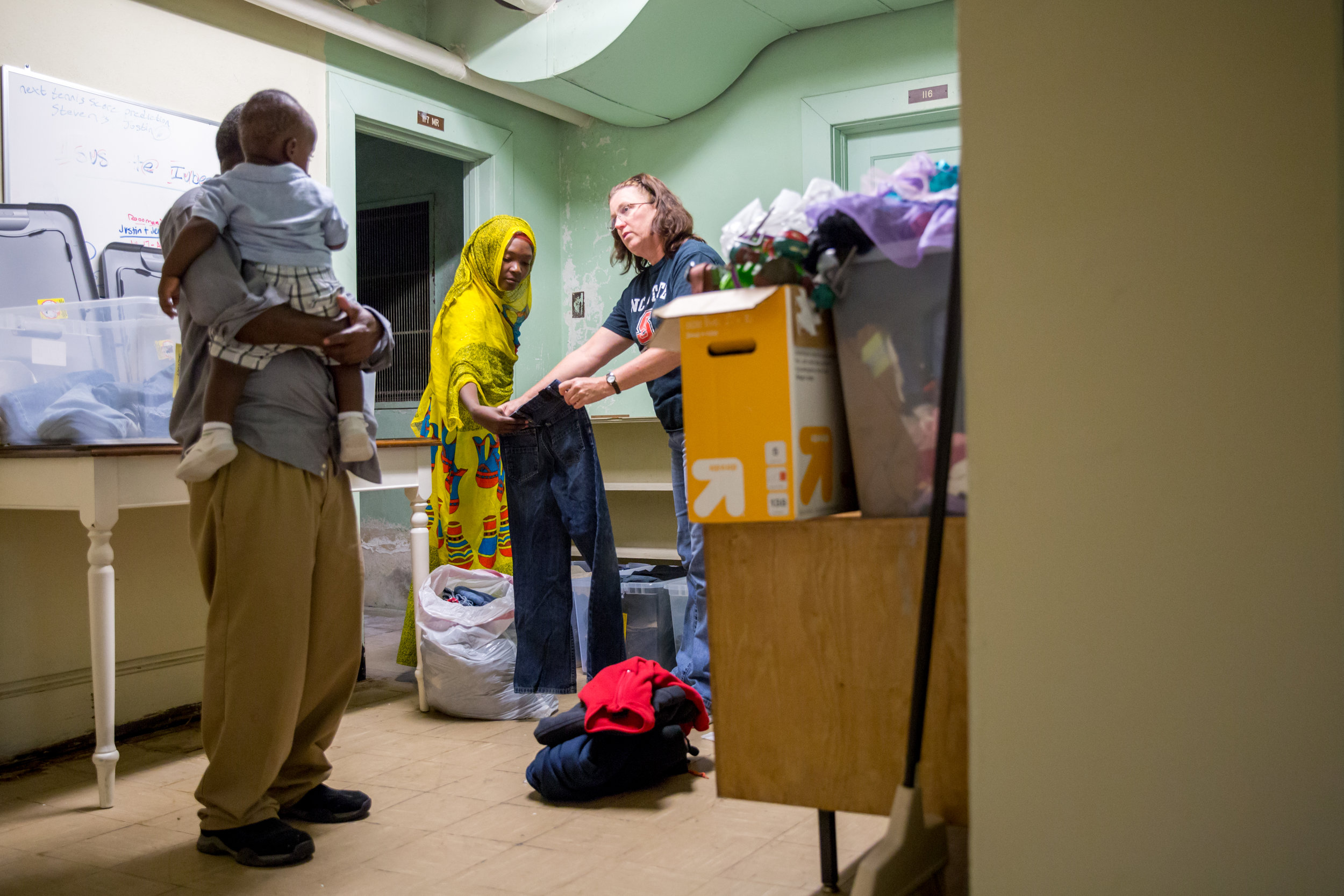 Alice Bolanos and Mnoza pack seven bags full of clothes for the family of eight. The family hasn't experienced a cold winter in over a decade. Finding the clothes to survive through it is crucial.