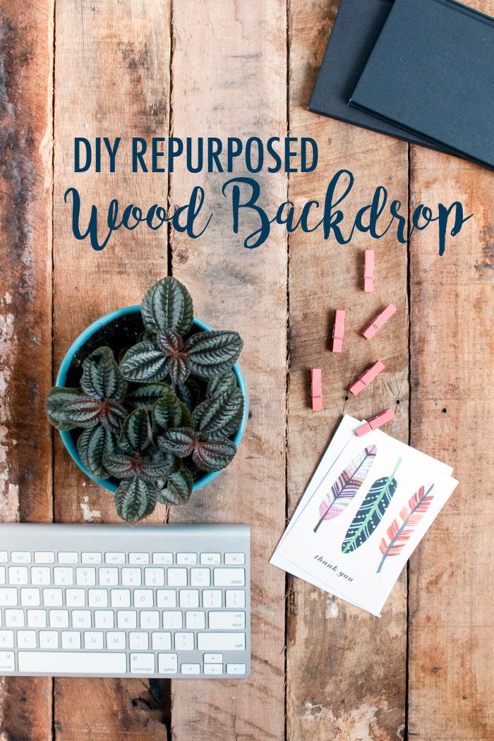 DIY REPURPOSED WOOD BACKDROP