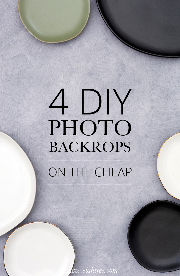 4 photo backdrops on the cheap