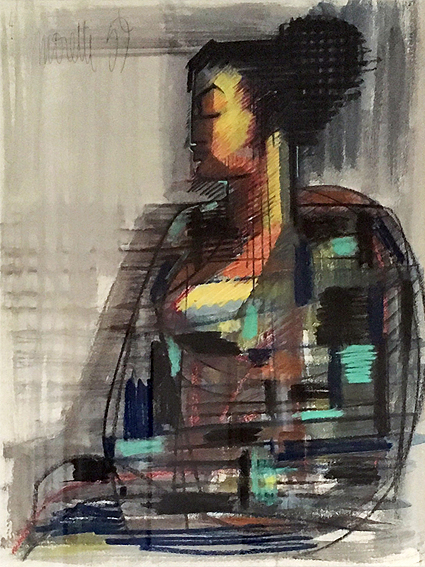 Femme au chignon