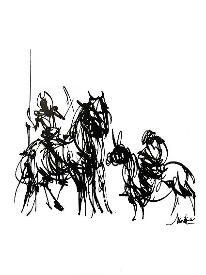 Don Quichotte et Sancho Pancha