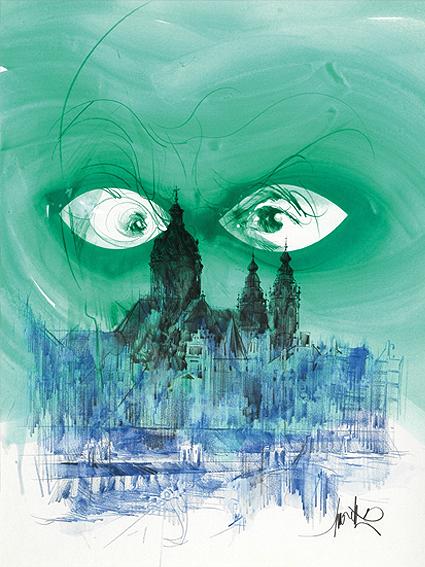 Le visage vert
